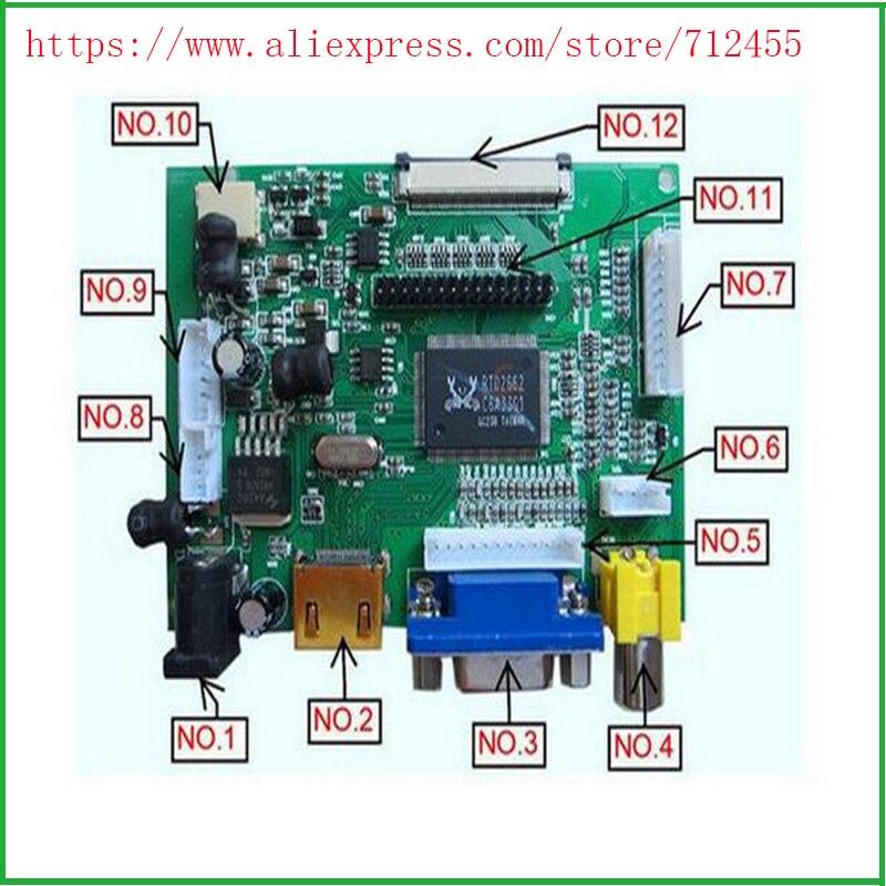 Pantalla LCD TTL LVDS placa controladora HDMI VGA 2AV 50PIN para AT070TN90 92 94 compatible automáticamente VS-TY2662-V1