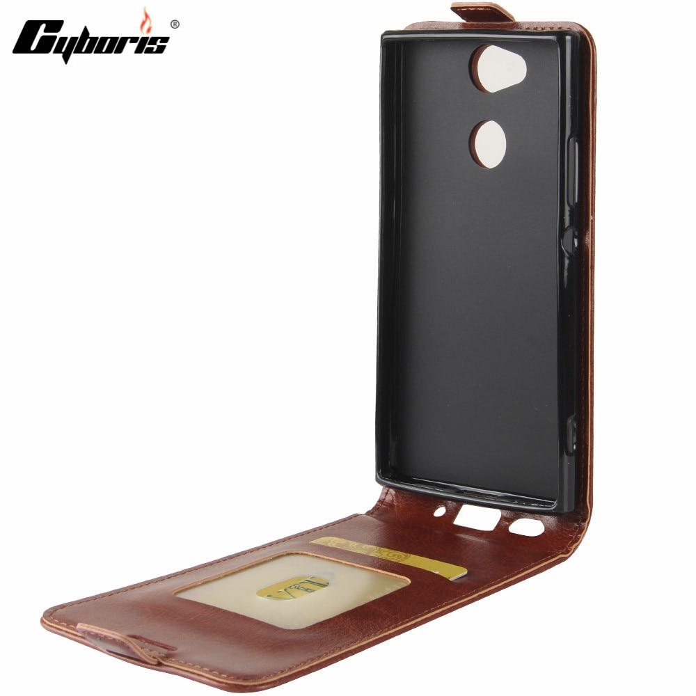 Cyboris For SONY Xperia XA2 Case Funda Luxury PU Leather Wallet Vertical Cover Phone Flip Caso for Sony Xperia XA2 XA 2 Coque