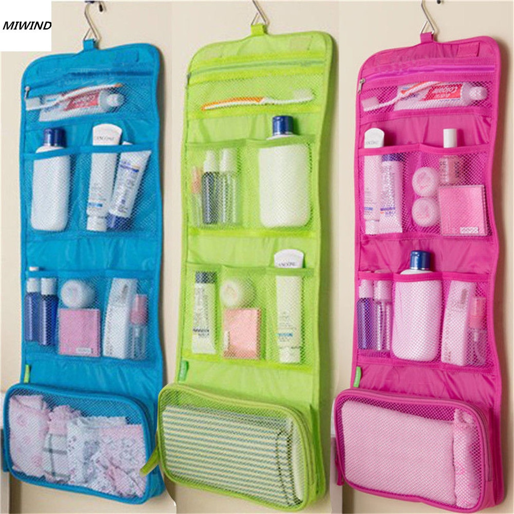 jytop portable multi function waterproof hanging wash bag toiletry bag travel cosmetic bag pouch organizer Hanging Travel Cosmetic Toiletry Bag Women Cosmetic Organizer Pouch Hanging Wash Bags Travel Polyester Zipper Cosmetic Case