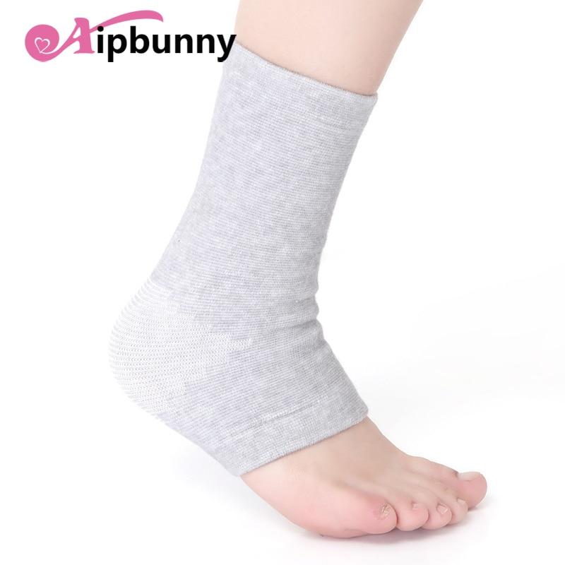 2 pçs alta elastic sprains-evitar compressão tricô esportes protetor basquete futebol tornozelo meias suporte cinta guarda