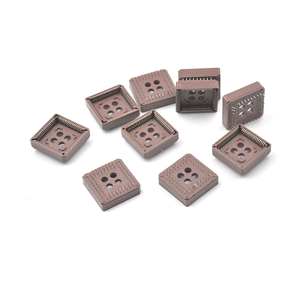 10 pces plcc68 68 pinos 68pin dip ic soquete adaptador conversor plcc