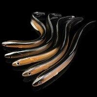 1pcs רך לשחות צלופח מלאכותי דיג פתיונות רך פיתיונות 30cm 58g סימולציה קונגר פיתוי להתמודד עם אביזרים