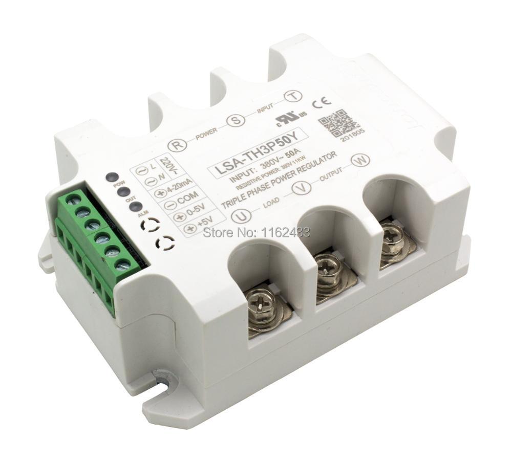LSA-TH3P50Y ثلاثة المرحلة AC 50A 380V الحالة الصلبة الجهد المنظم/الطاقة منظم وحدة