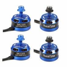4PCS Racerstar Racing Edition 2205 BR2205 2300KV 2-4S Brushless Motor CW/CCW Dark Blue For QAV250 ZMR250 RC Drone Quadcopter DIY