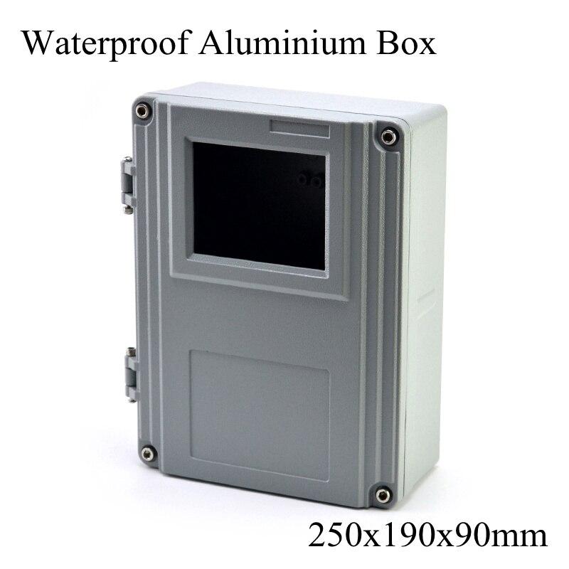 FA15-1 250x190x90 مللي متر الألومنيوم Waterporrf الضميمة مختومة مشروع سلك كهربائي تقاطع حالة توزيع مربع 250*190*90 مللي متر