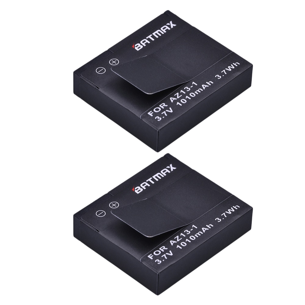 For 2Pcs Xiaomi Yi Battery AZ13-1 Akku 1010mAh Rechargeable Li-ion Battery for Xiaomi yi Action Camera Sport Camera Accessories
