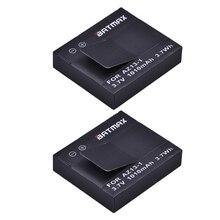 2 Adet Xiaomi Yi Pil AZ13-1 Akku 1010 mAh Şarj Edilebilir li-ion pil için Xiaomi yi Eylem Kamera Spor Kamera Aksesuarları