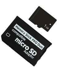 Новинка! MICRO TF SD карта 1 Гб 2 ГБ 4 ГБ 8 ГБ TF карта памяти + Micro TF карта памяти MS Pro Duo адаптер PSP