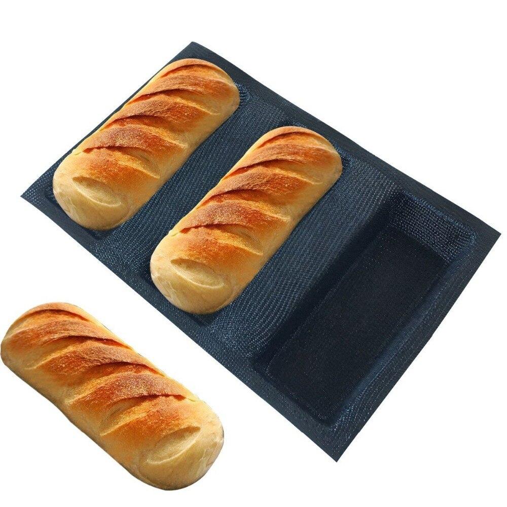 Envío Gratis, moldes de silicona con forma cuadrada para pan, bandeja para panadería antiadherente, pan de fibra de vidrio recubierto de silicona