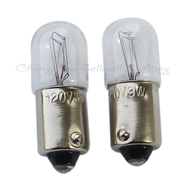 Ba9s T10x28 120v 3w Luz de bulbo de la lámpara A102