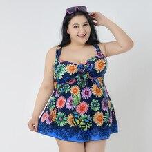 Tamanho grande 4xl-8xl terno de natação vestido de verão maiô uma peça roupa de banho sexy vestidos femininos praia