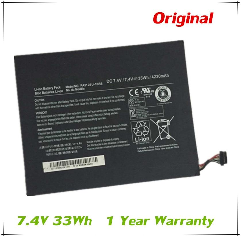 7XINbox 7,4 V 33wh batería Original PA5123U-1BRS para ordenador portátil Toshiba Satellite Excite pro AT10LE-A-108 tableta AT300