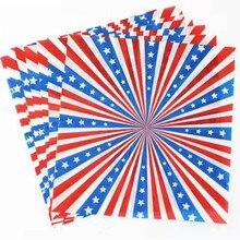 Papier revêtu de cire alimentaire   Conception de drapeau, emballage alimentaire, feuille absorbant lhuile, papier demballage pour chien chaud, 25x25cm