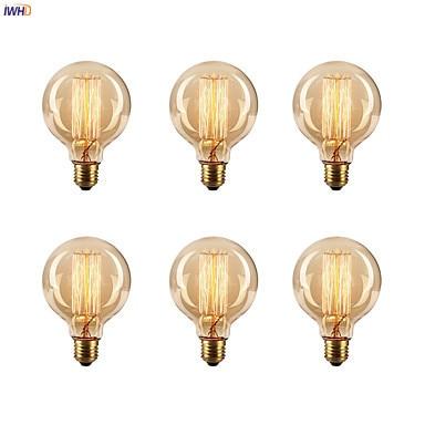 Винтажный светильник IWHD bombilas, лампа для украшения дома, 40 Вт, E27, 220 В, лампочка эдисона, Ретро лампа накаливания, A19, G80, St64, T45