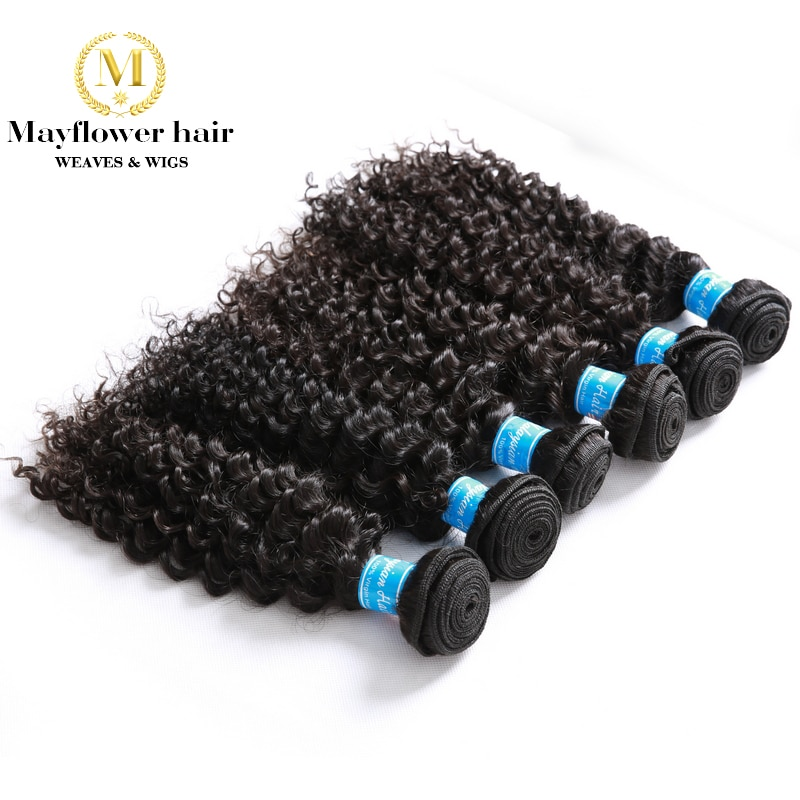 MFH Wholesale 10pcs Virgin Malaysian hair deep wave natural color can be dye no tangle no shedding mix length from 12-26