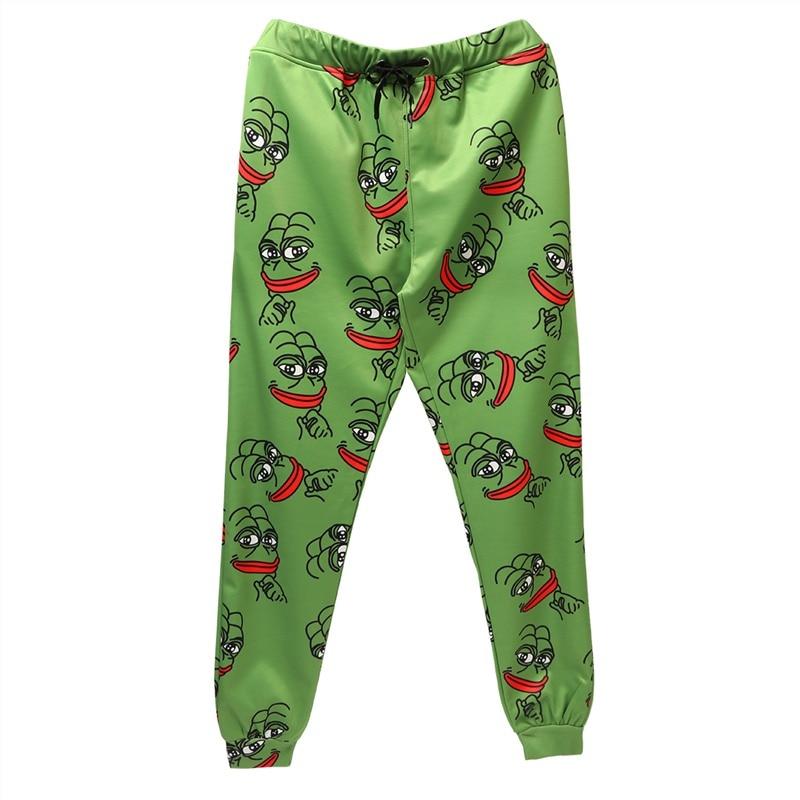3D The Frog Joggers Pants Men/Women Funny Cartoon Sweatpants 2020 New Trousers Jogger Pants Elastic Waist Pants Dropship