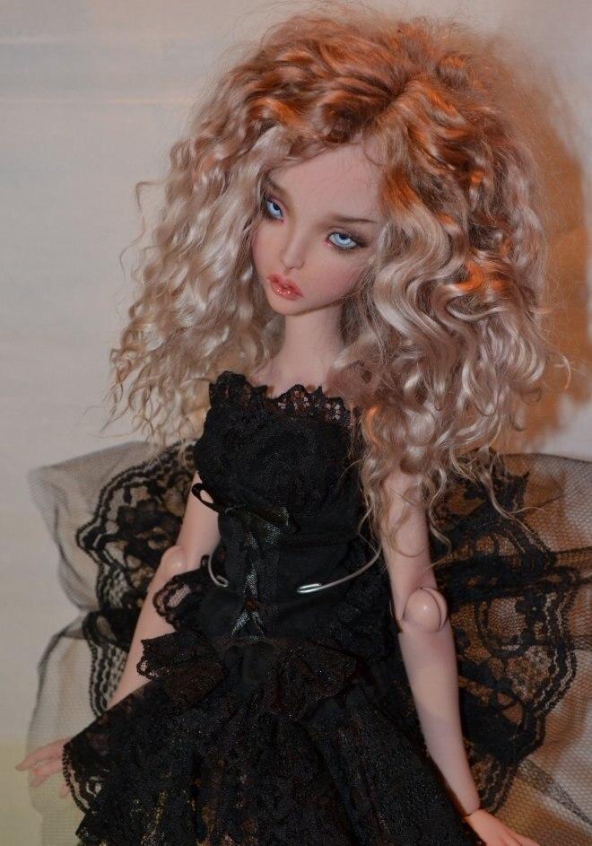 Muñeca bjd femenina Ellana 1/4, regalo de muñeca articulada eyeball