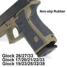 Gant tactique antidérapant en caoutchouc pour Glock 17 19 20 21 22 25 26 27 33 43 accessoires pour pistolet