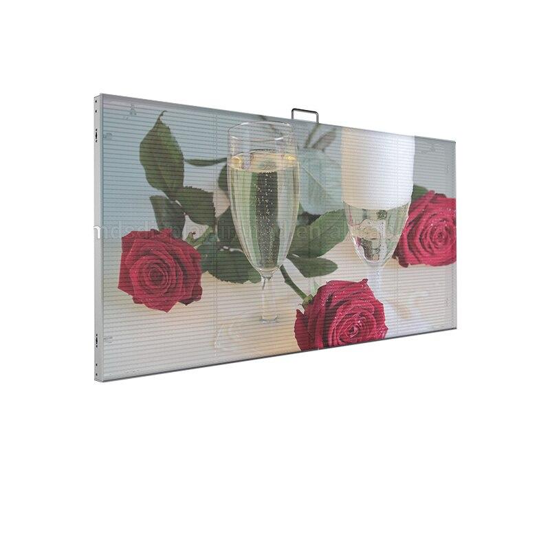 P3.91 внутренний прозрачный СВЕТОДИОДНЫЙ экран, торговый центр, большой экран для рекламы для окон или стекла