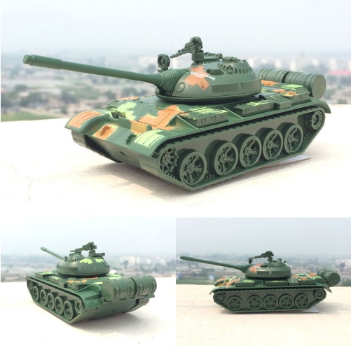 1:32 T55 Leopardo 2 tanque de aleación modelo de batalla militar coche tire hacia atrás con música ligera para niños Juguetes