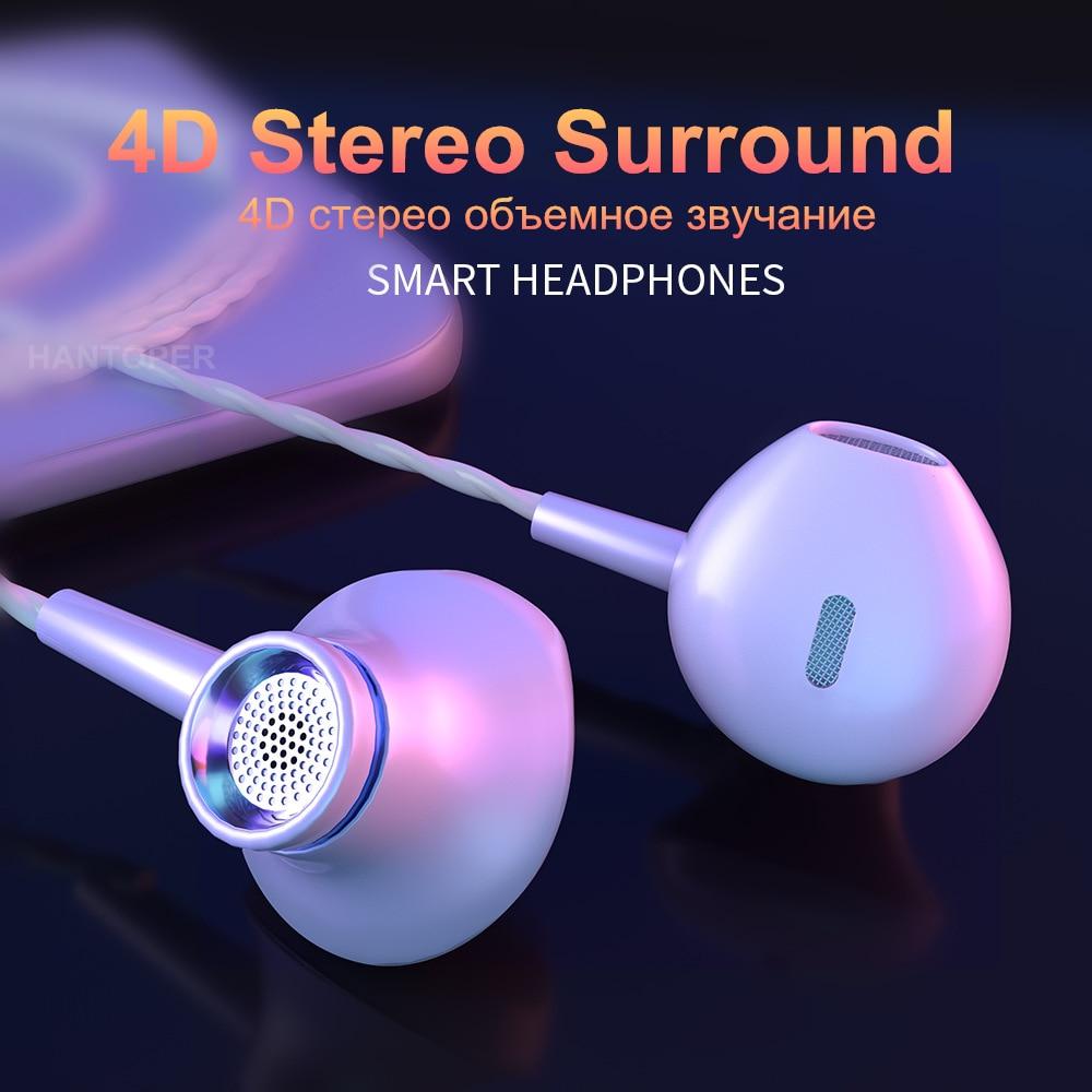 HANTOPER In Ear Earphone Bass Subwoofer Earphone for phone DJ mp3 Sport Earphones Headset Earbud auriculares