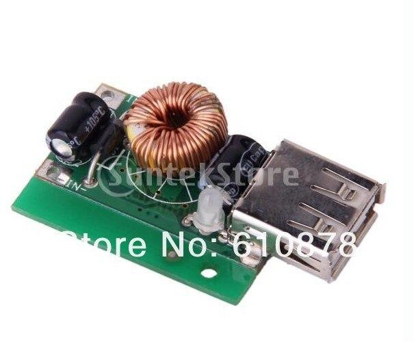 Voltaje reductor ajustable 600-800mA 7-16V módulo cargador de fuente de alimentación con salida USB