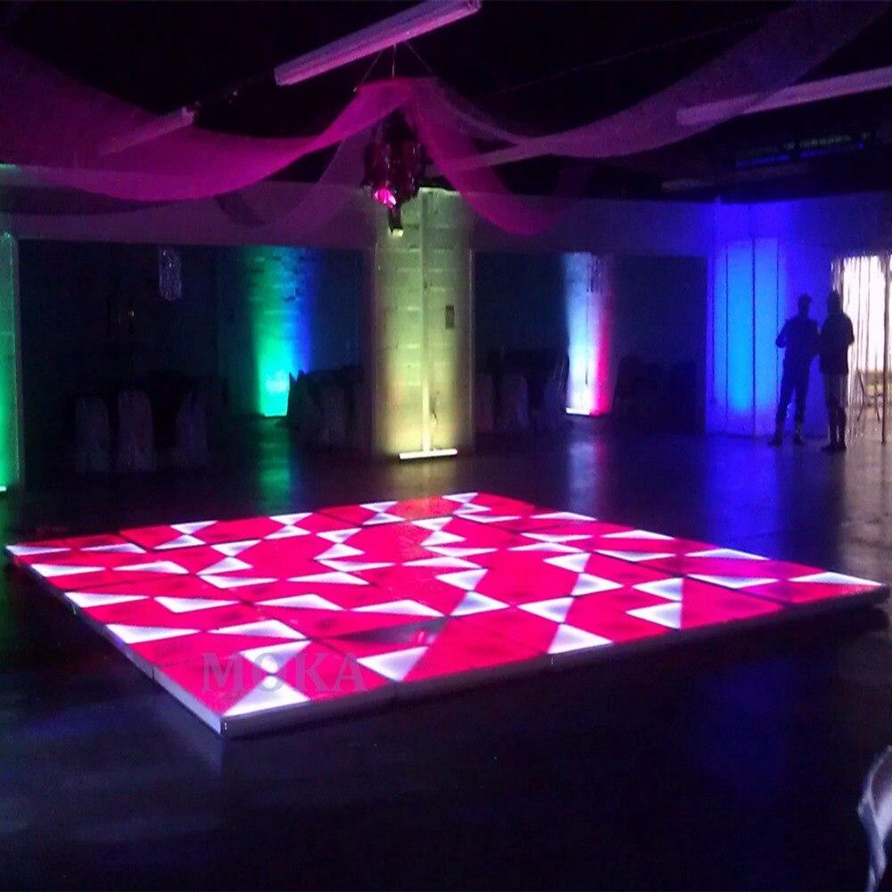 48 unids/lote mejor precio RGB escenario Led pista de baile 1M * 1M pantalla led suelo boda pista de baile en venta