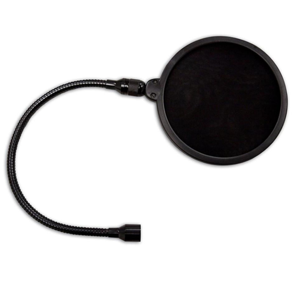 PS01 gran doble capa Anti-spray red micrófono cubierta Anti-ruido Metal Pop filtro para micrófono duradero