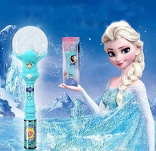 Yeni Kız Oyuncaklar Anime Cosplay Elsa LED Sihirli Değnek Müzik Henshin Çubuk parlak çubuk kolye Dans Spiral Elsa Doll Çubuk En Iyi Hediyeler toy009