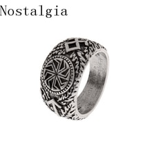 Nostalgia Slavic Vikings Rune Rings Kolovrat Signet Symber Runic Ring Scandinavian Norse Knot Anel Bague Men Jewelry Large Size