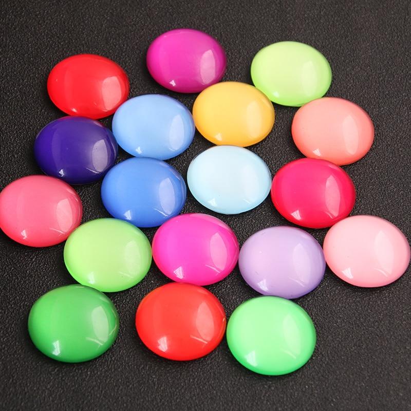6 pçs mix colorido doces cores padrão redondo cabochão de vidro 20mm 25mm cúpula plana volta diy jóias encontrando