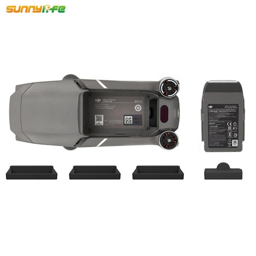 4 unids/set de carga de la batería protector para Puerto y cuerpo de drone de silicona tapa Plug prueba de polvo para DJI MAVIC 2 Pro/MAVIC 2 Zoom