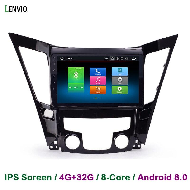 Lenvio RAM 4G + 32G Octa Core Android 8,0 reproductor de DVD del coche para Hyundai Sonata 8 YF I40 I45 I50 2011-2015 Radio de navegación GPS BT IPS
