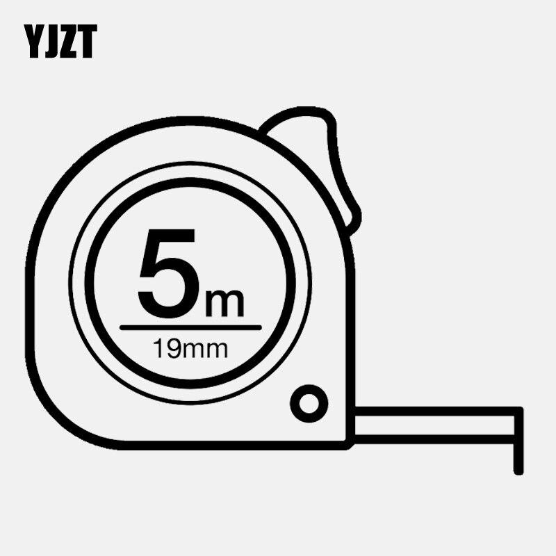Yjzt 12.2cm * 9cm 5 metro de comprimento fita completa medida vinly preto/prata etiqueta do carro C22-0483
