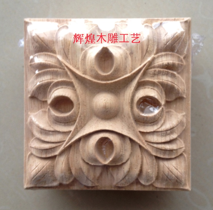 Dongyang tallado en madera maciza muebles de madera para puertas cama esquina flor decoración del hogar 130 cuadrados