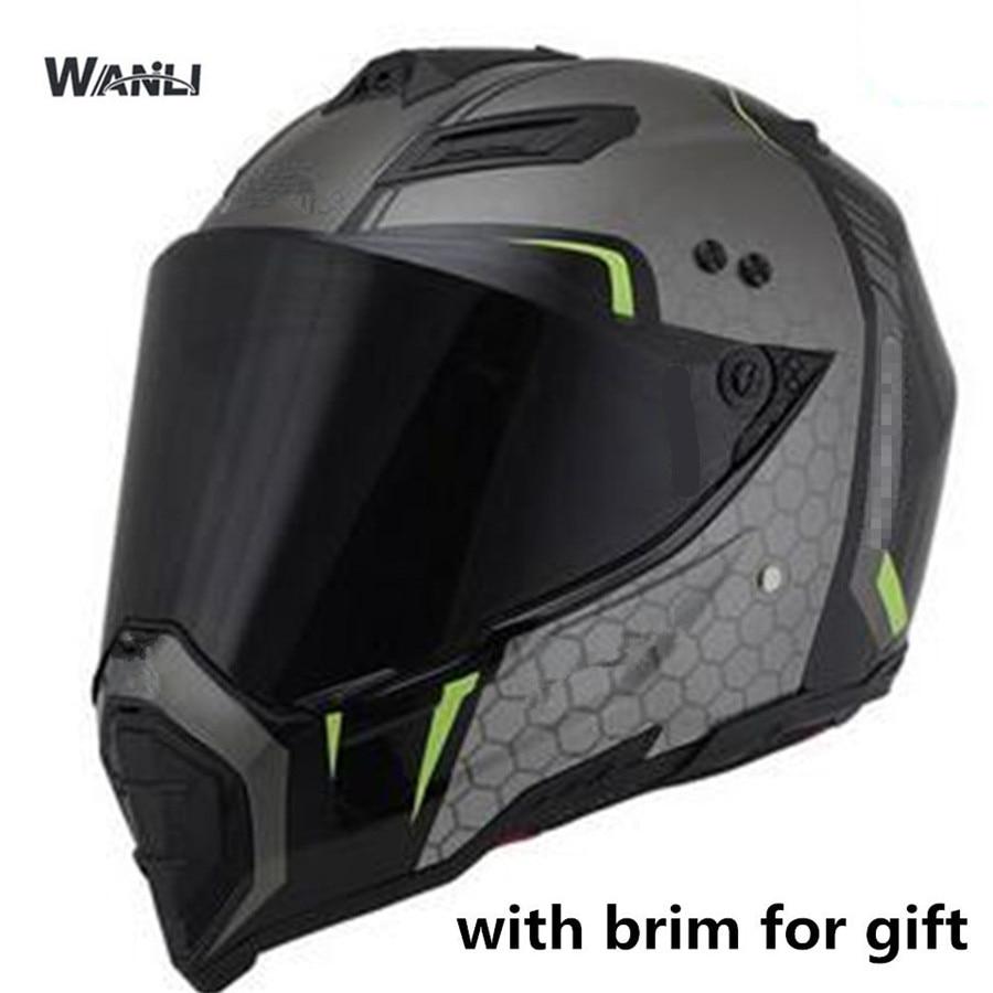 ¡Novedad de 2019! casco de moto rcycle de alta calidad, casco de carreras todoterreno, casco de moto capacete con ala de sol eliminada S 55cm