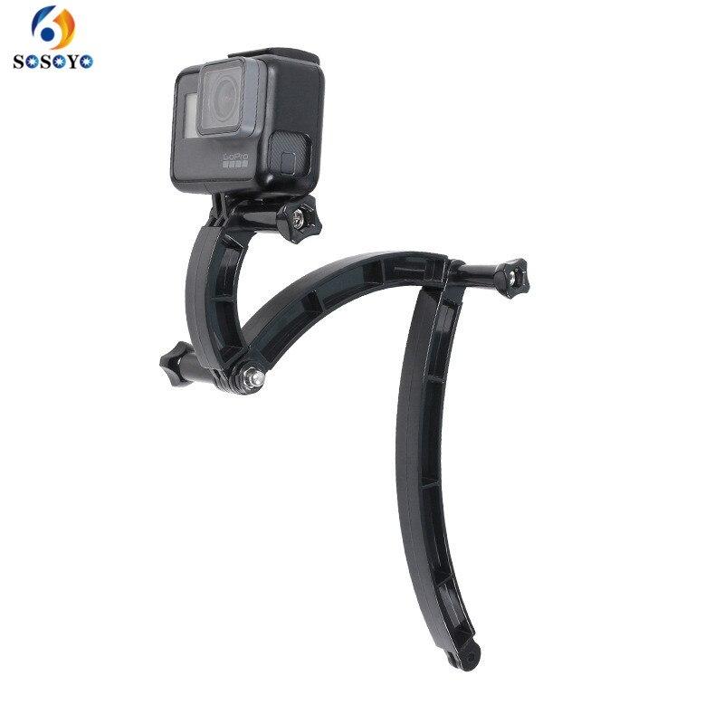 3 möglichkeiten Helm Extension Arm Motorrad Helm Halterung Verstellbaren Stab Für GoPro Hero 7 6 5 4 3 Xiaomi Yi kamera Zubehör