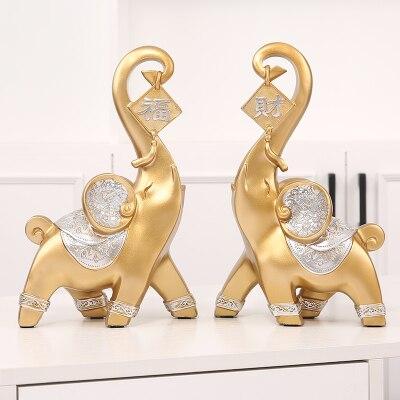 Elefante para el hogar de Europa del Norte un par de regalos de decoración creativa juego de armario de habitación porche abstracto des tatue
