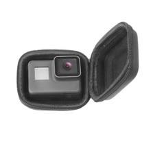 Para Go Pro Hero 7 6 5 Mini EVA estuche protector para almacenamiento caja montaje para Go Pro Hero 7 6 5 negro plata Accesorios