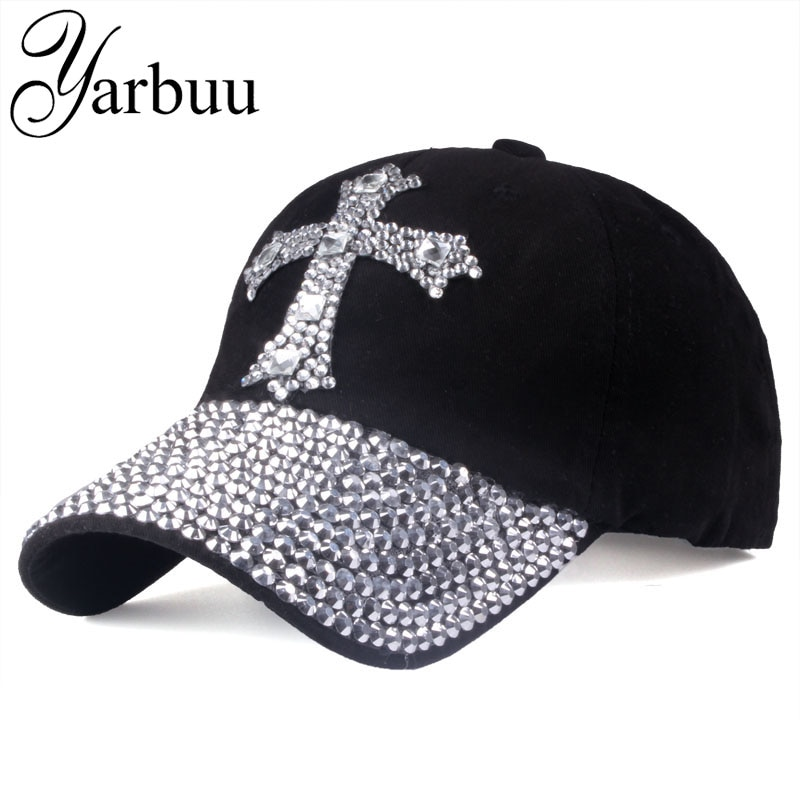 [YARBUU] Baseball cap For men & women 2017 new fashion sun hat The adjustable 100% cotton rhinestone