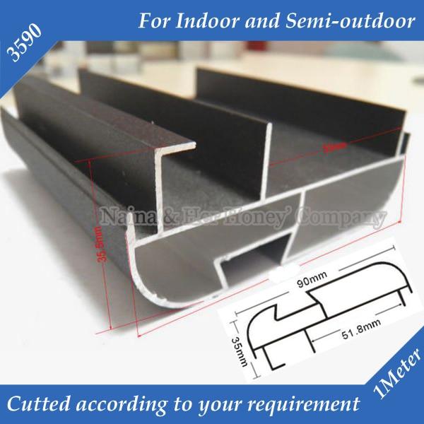 1meter/pc 6meters/lot 3590 Arc Corner LED Display Screen Frame Suit for P7.62,P10 ,P16,P20 Indoor and Semi-outdoor