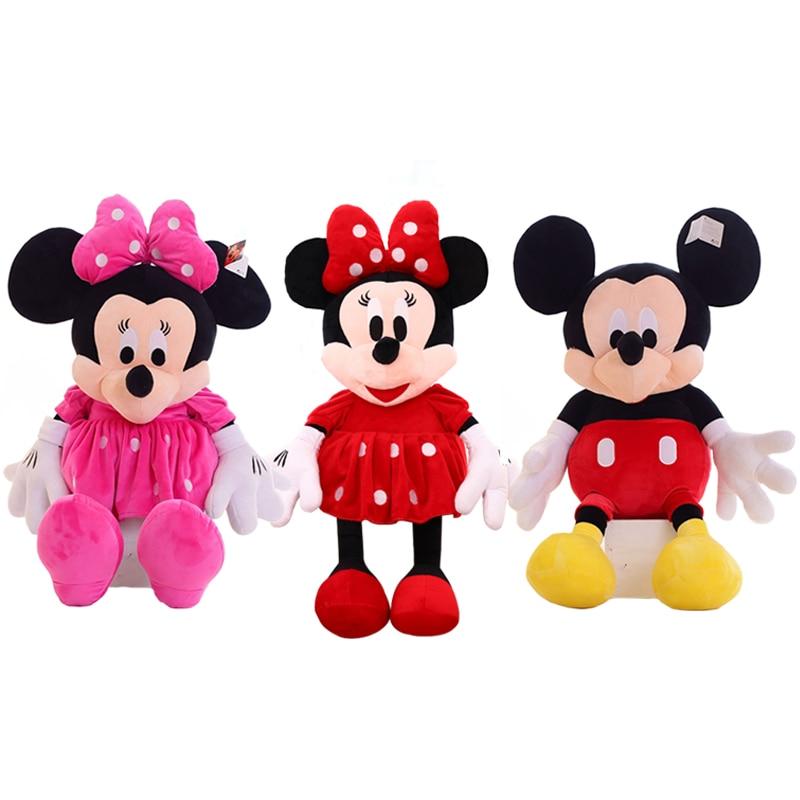 1 unidad de juguete de peluche clásico Mickey y Minnie Mouse de 50 cm, muñeco de peluche suave de dibujos animados para regalo infantil, regalo de Navidad