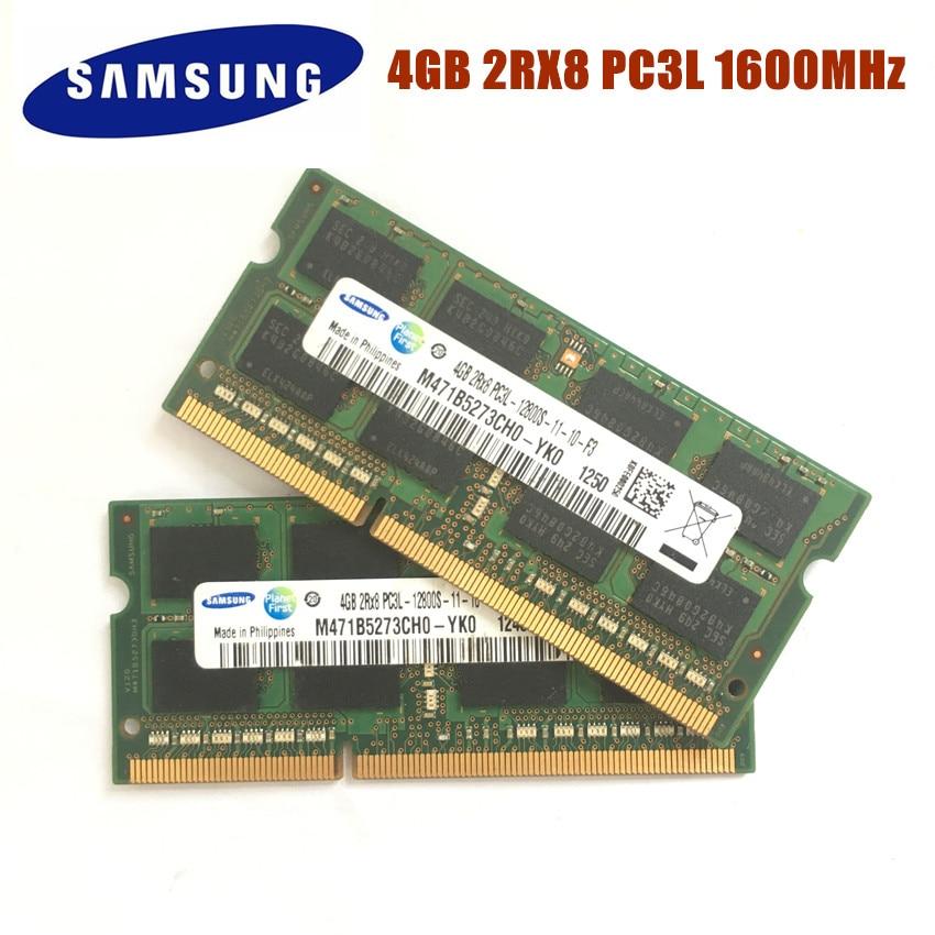 Samsung 4gb 1r/2rx8 PC3L-12800S ddr3, 1600mhz 4gb memória do portátil 4g pc3 12800s 1600 módulo sodimm do módulo do caderno mhz ram