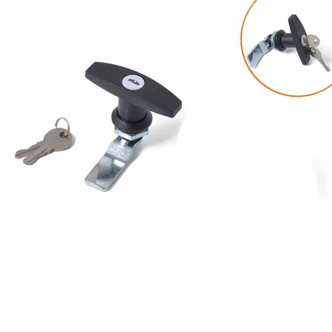 RV T-Handle Door Lock Latch Truck Cap Camper Trailer Shell Cover Lid w/ Keys For Car Caravan