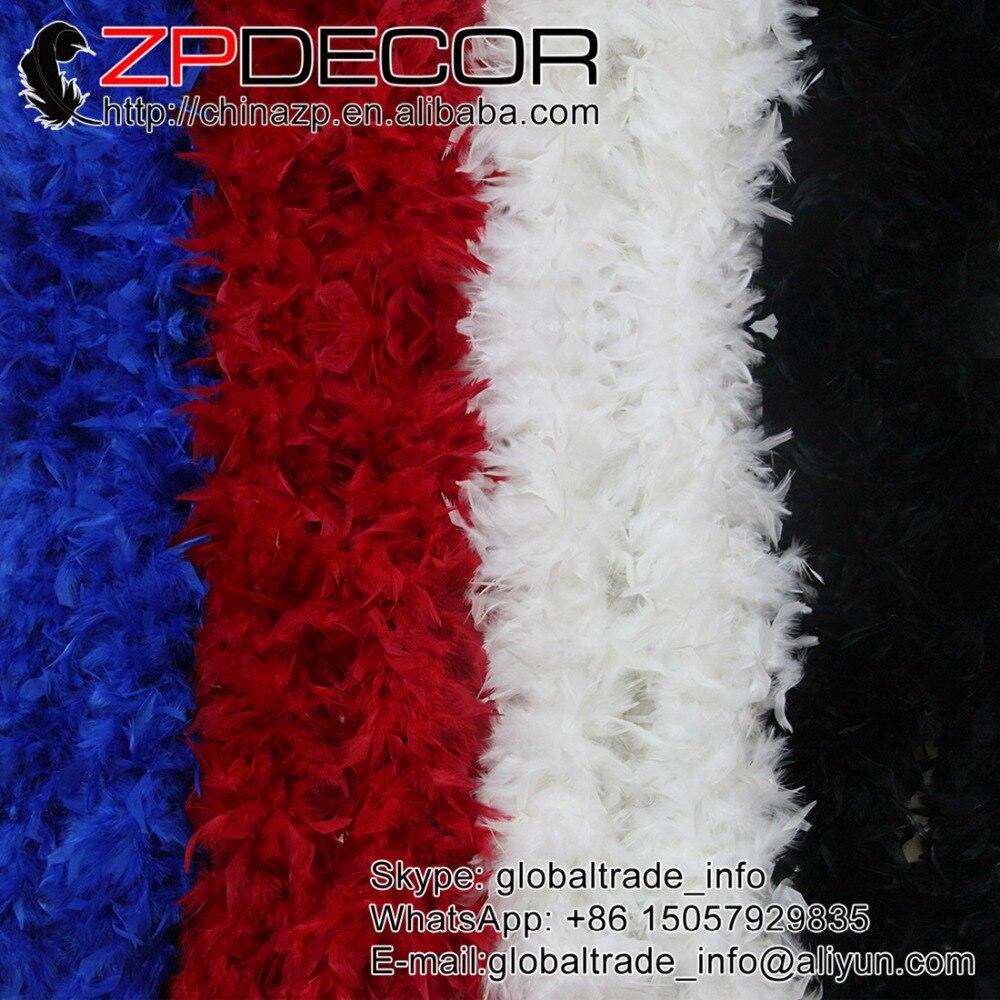 ZPDECOR, 150g, 2 yardas/lote en Stock, Boa de plumas de Chandelle mullido de calidad Premium, pañoleta teñida en negro para decoración de boda