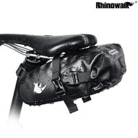 rhinowalk tf550 cycling full waterproof seatpost bag bicycle saddle pannier road rear pouch mtb 420d nylon seat gear bag pack