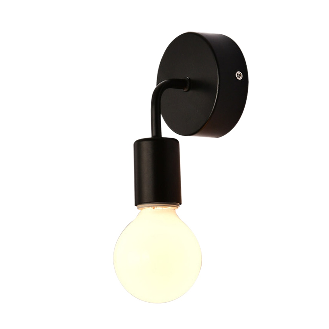 Lámpara de pared Simple de hierro antiguo negro para Loft, lámpara de pared con ventosa para pasillo, Bar, restaurante americano, pared