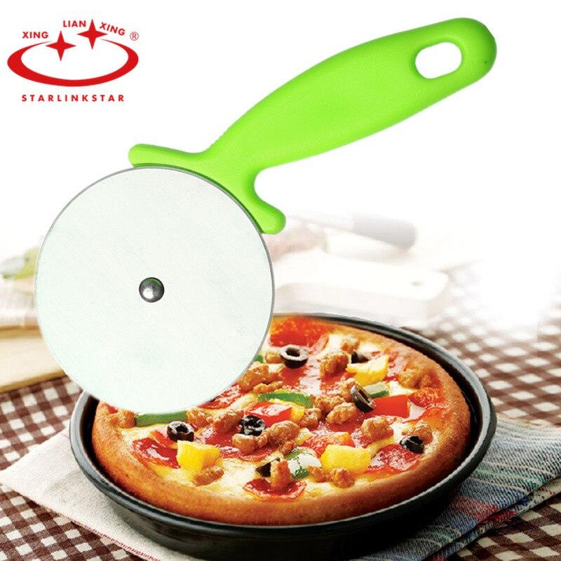 Cortador de Pizza antiadherente de acero inoxidable, rebanadora de rueda con agarre...