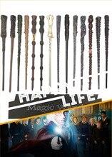 Qualité lumière LED Snape Dumbledore baguette magique cadeau boîte Cosplay jeu Prop Collection Harry jouet bâton billet de Train gratuit