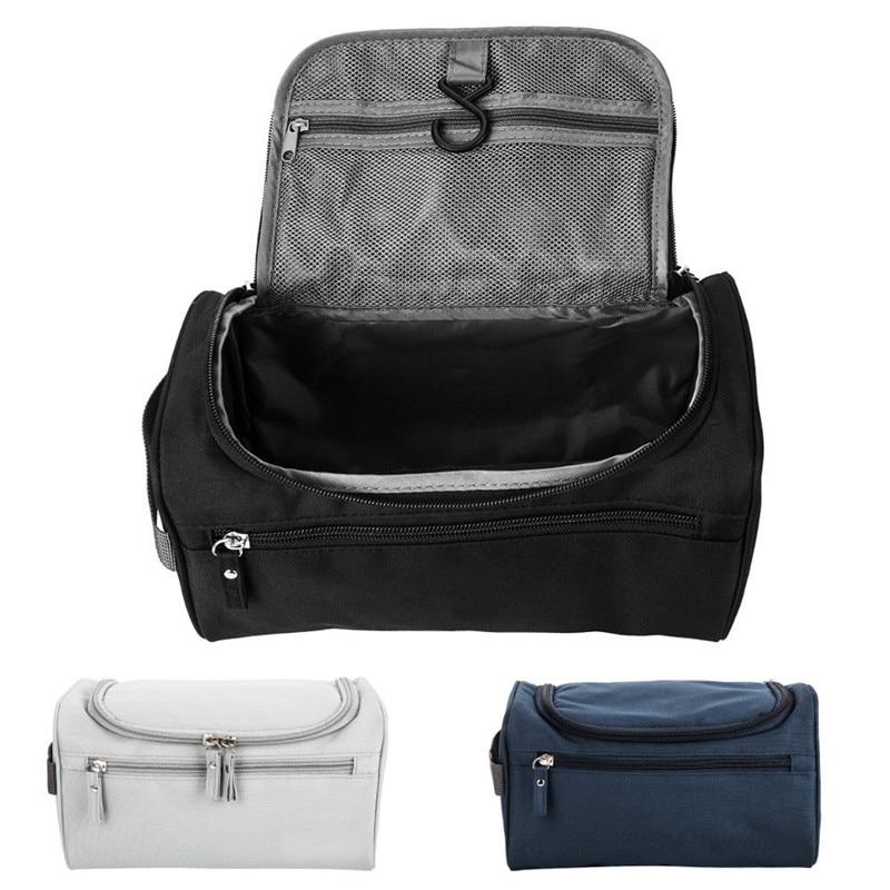 Saco de lavagem de viagem das mulheres dos homens bolsa de higiene pessoal organizador de barbear caso cosmético saco de armazenamento à prova dwaterproof água